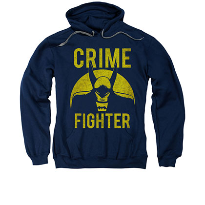 Batman Crime Fighter Blue Pullover Hoodie