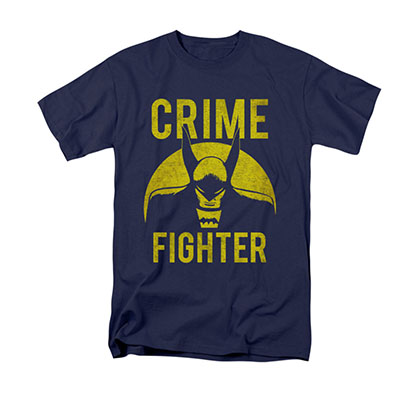 Batman Men's Blue Crime Fighter Tee Shirt