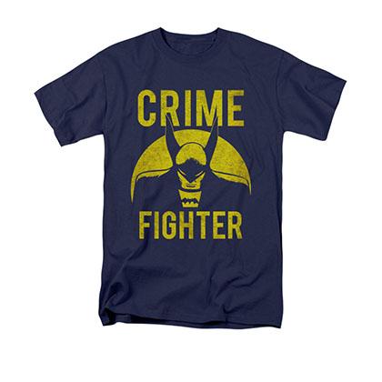 Batman Men's Blue Crime Fighter Tee Shirt