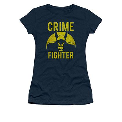 Batman Crime Fighter Blue Juniors Tee Shirt