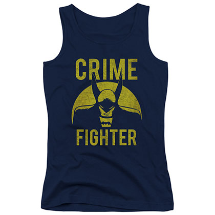 Batman Crime Fighter Blue Juniors Tank Top