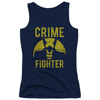 Batman Crime Fighter Blue Juniors Tank Top