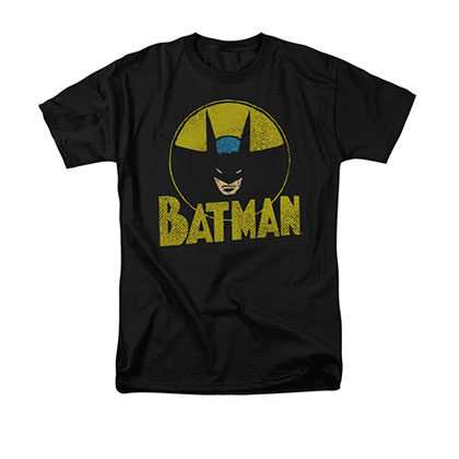 Batman Men's DC Circle Black Tee Shirt