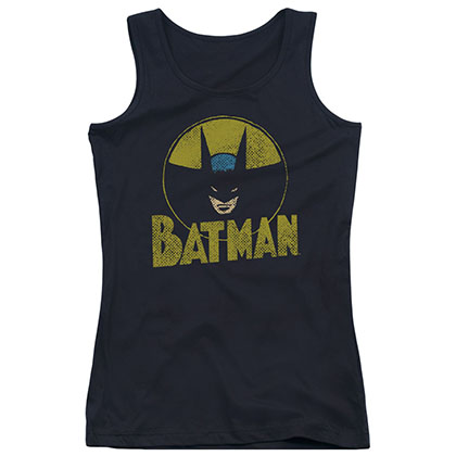 Batman Circle Bat Black Juniors Tank Top