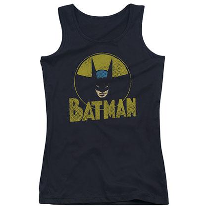 Batman Circle Bat Black Juniors Tank Top