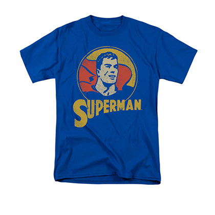 Superman Retro Circle Blue T-Shirt