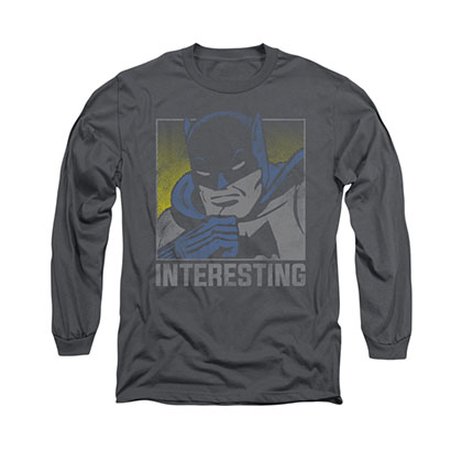 Batman Interesting Gray Long Sleeve T-Shirt