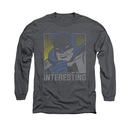 Batman Interesting Gray Long Sleeve T-Shirt