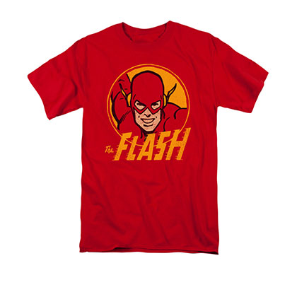 The Flash Retro Circle Red T-Shirt