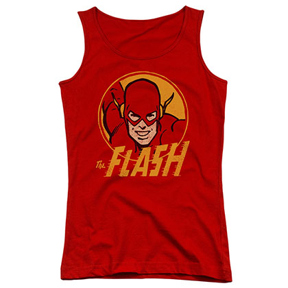 The Flash Circle Red Juniors Tank Top
