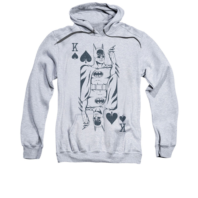 Batman King Of Hearts Gray Pullover Hoodie Superherodencom