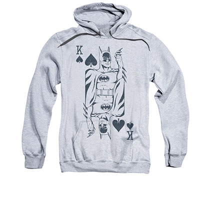 Batman King Card Gray Pullover Hoodie