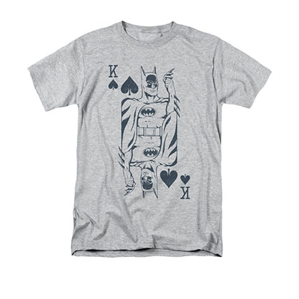 Batman King Card Gray T-Shirt