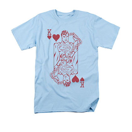 Superman King Card Blue T-Shirt