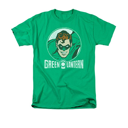 Green Lantern Men's Green Retro Circle Tee Shirt