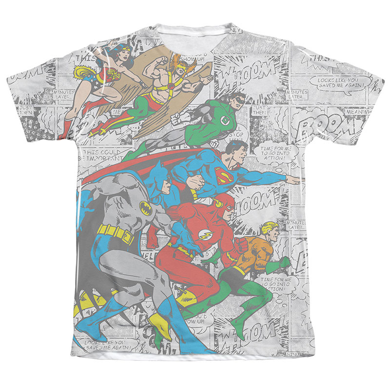 Justice League Face Off Sublimation T-Shirt