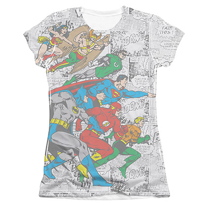DC Comics Face Off Sublimation Juniors Tee Shirt