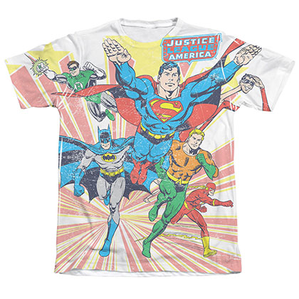 Justice League Coming At You Sublimation Tee Shirt
