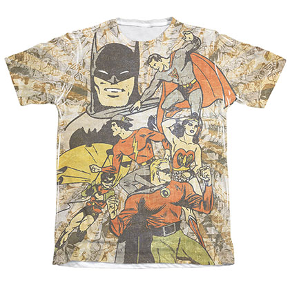 Justice League All Stars Sublimation Men's Tee Shirt