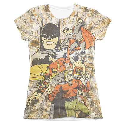 Justice League Juniors Sublimation All Stars T-Shirt