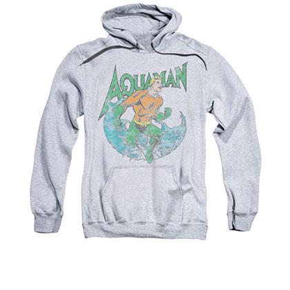 Aquaman Men's Gray Marco Pullover Hoodie