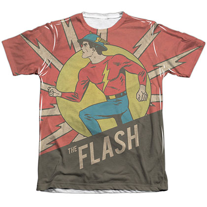 The Flash Vintage Comic Sublimation T-Shirt