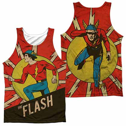 DC Vintage Comic Flash Sublimation Tank Top