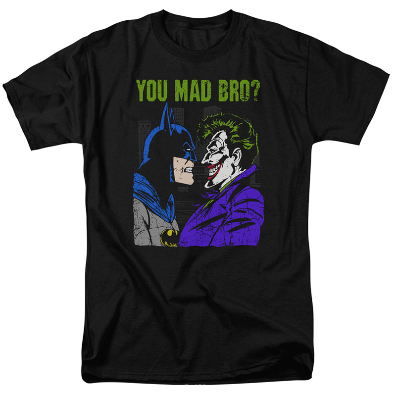 Batman You Mad Bro Joker Black T-Shirt