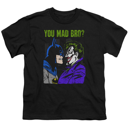 Batman and the Joker You Mad Bro? Youth Tshirt
