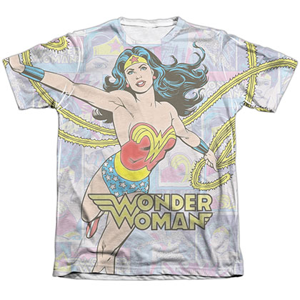 Wonder Woman Collage Sublimation T-Shirt