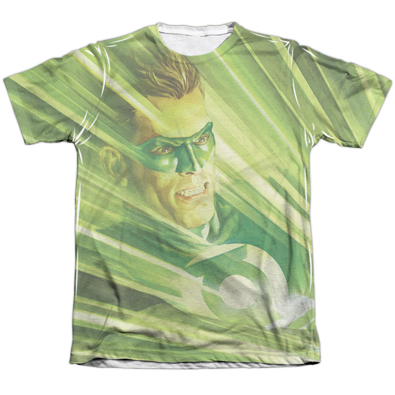 Green Lantern Rays Of Light Sublimation T-Shirt
