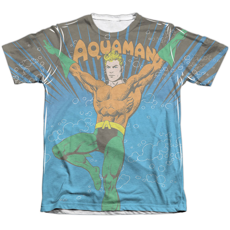 Aquaman Underwater Sublimation T-Shirt