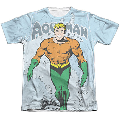 Aquaman Classic Aqua Sublimation T-Shirt