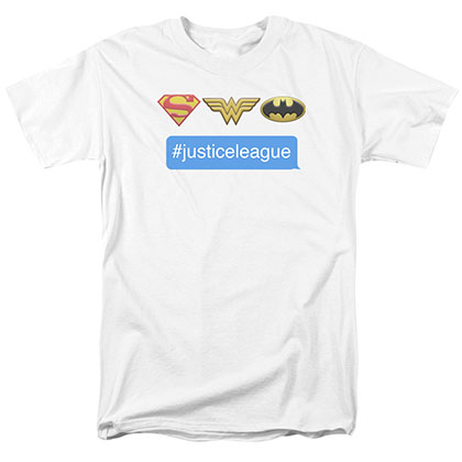 Justice League Hashtag White T-Shirt