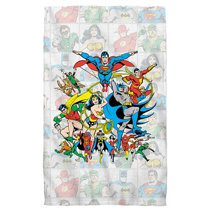 DC Comics Cast of Heroes Beach Towel
