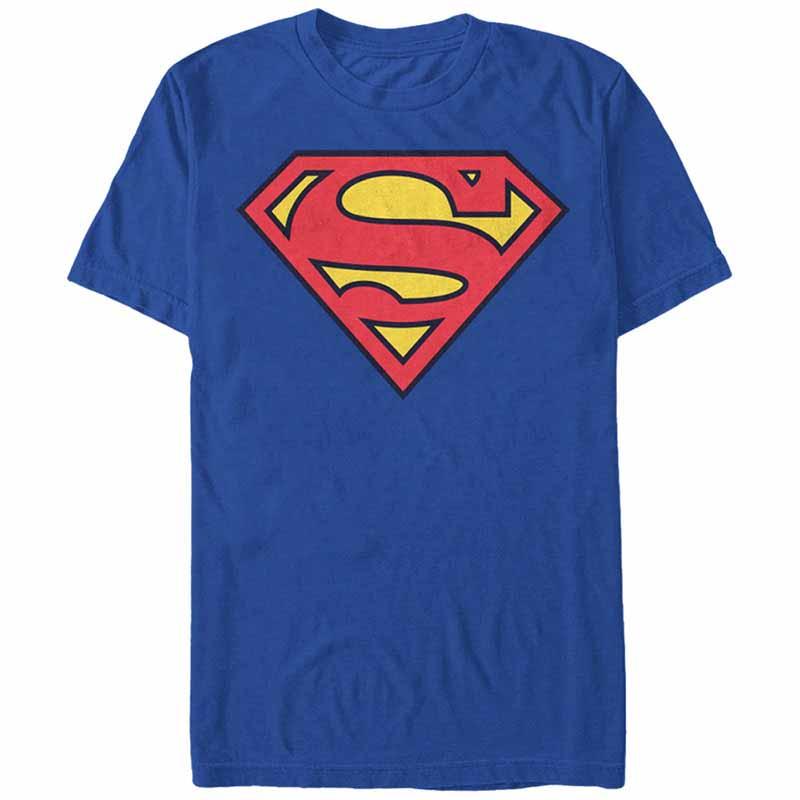 Superman Superman Classic Logo Blue T-Shirt