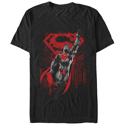 Superman Kryptons Living Legacy Black T-Shirt