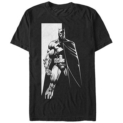 Batman Monochrome Bat Black T-Shirt
