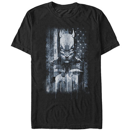 Batman Flagged Black T-Shirt