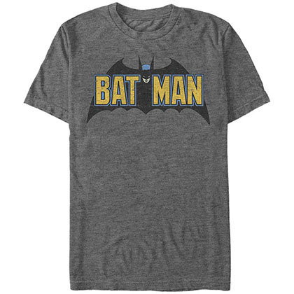 Batman Old Skool Logo Gray T-Shirt