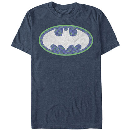 Batman Joker Bat Logo Blue T-Shirt