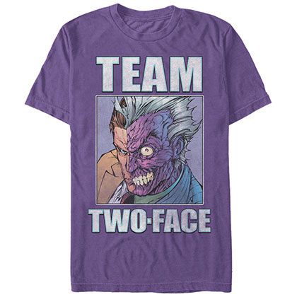 Batman Team TwoFace Purple T-Shirt