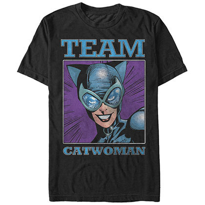 Batman Team Catwoman Black T-Shirt
