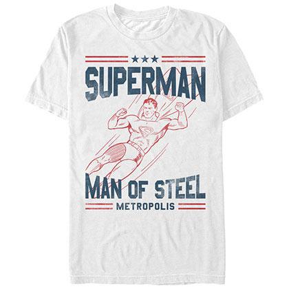 Superman Basic Supes White T-Shirt