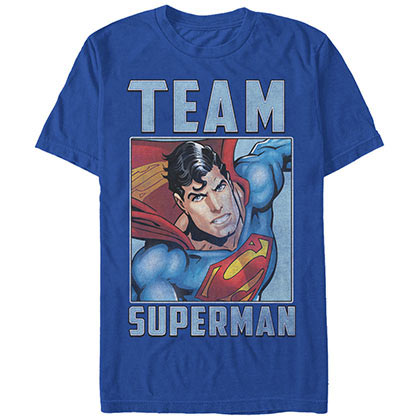Superman Team Super Blue T-Shirt