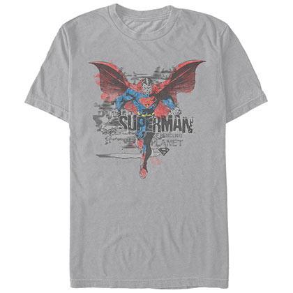 Superman Paint Planet Gray T-Shirt