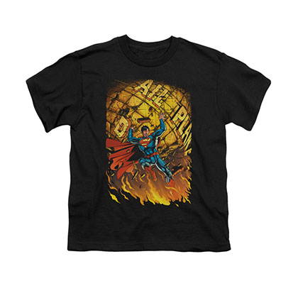 Superman #1 Comic Black Youth Unisex T-Shirt
