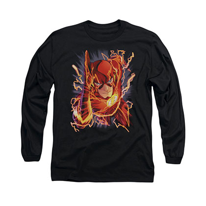 The Flash Comic Black Long Sleeve T-Shirt