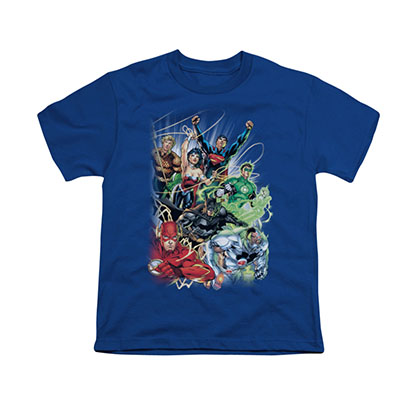 Justice League #1 Blue Youth Unisex T-Shirt