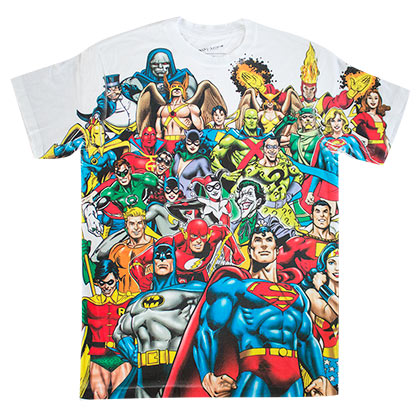 DC Comics Superheroes Sublimated T-Shirt